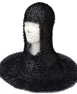 Medieval_Wedged_Rivet_Steel_Chainmail_Coif_Armor_1