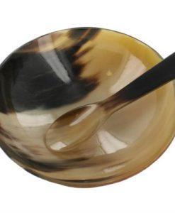 Renaissance_Set_Cow_Horn_Spoon_Bowl_16oz