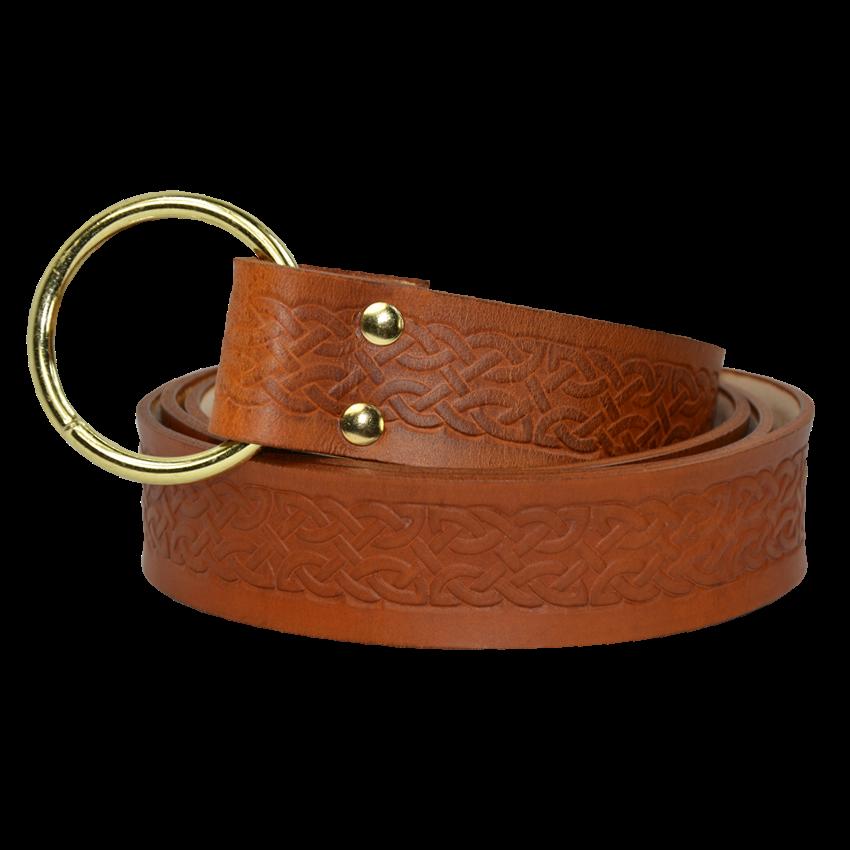celtic leather ring belt garbgeek