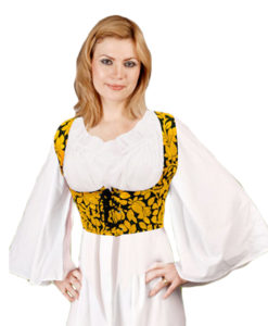 Medieval_Underbust_Bodice_Yellow