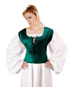 Velvet_Medieval_Bodice_Green